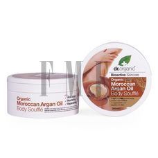 DR.ORGANIC Moroccan Argan Oil Body Souffle - 200 ml.