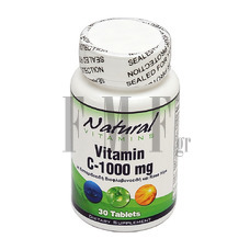 NATURAL VITAMINS Vitamin C 1000mg with Bioflavonoids - 30 Tabs.