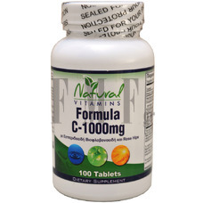 NATURAL VITAMINS Vitamin C 1000mg with Bioflavonoids - 100 Tabs.