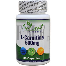 NATURAL VITAMINS L-Carnitine 500mg - 30 Caps.