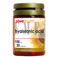 POWER HEALTH Hyalouronic Acid 100mg - 30 Caps.