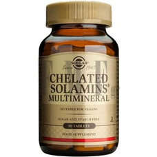 SOLGAR Chelated Solamins Multimineral - 90 Tabs.