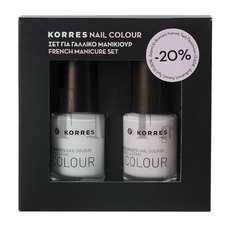KORRES Nail Colour - Σετ Γαλλικού Μανικιούρ ( 00 White+08 Candy Scallop)