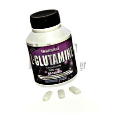 HEALTH AID L-Glutamine 500mg - 60 Tabs.