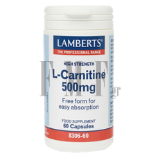 LAMBERTS L -Carnitine 500mg - 60 Caps.