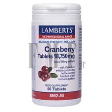 LAMBERTS Cranberry Tablets - 60 Tabs.