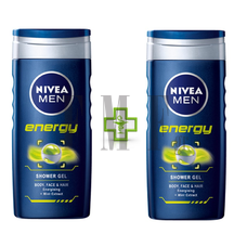 NIVEA Men Energy Shower Gel 1 + 1 ΔΩΡΟ - 2x500 ml.
