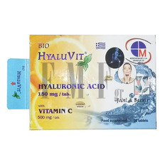 MEDICHROM Bio-HyaluVit Hyaluronic Acid with Vitamin-C - 30 Tabs
