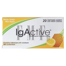 NOVAPHARM IgActive Immunological Enzymatic System Honey Lemon - 20 Tabs.