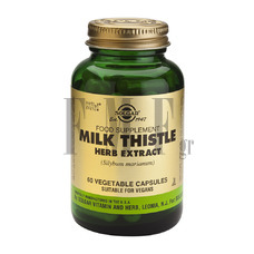 SOLGAR Milk Thistle Herb & Seed Extract - 60 Caps.