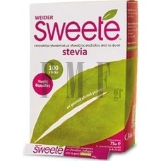 SWEETE Stevia Carton - 100 Sticks x 0.75 gr.