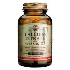 SOLGAR Calcium Citrate with Vitamin D3 - 60 Tabs.