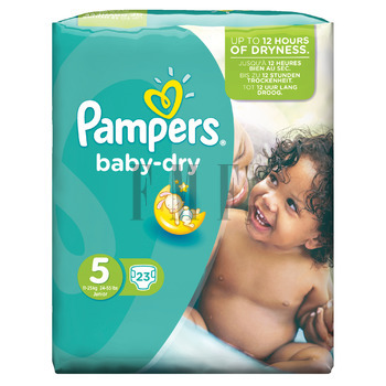 PAMPERS Baby Dry Junior No5 (11-25 kg) - 23 Τεμ.