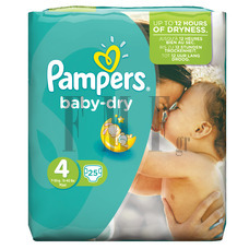 PAMPERS Baby Dry Maxi No4 (7-18 kg) - 25 Τεμ.