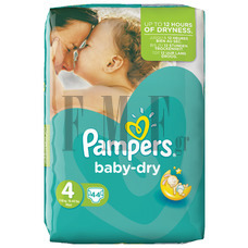 PAMPERS Baby Dry Maxi No4 (7-18 kg) - 44 Τεμ.