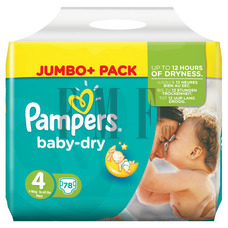 PAMPERS Baby Dry Maxi No4 (7-18 kg) - 78 Τεμ.