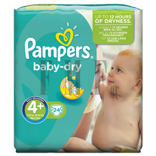 PAMPERS Baby Dry Maxi Plus No4+ (9-20 kg) - 24 Τεμ.