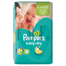 PAMPERS Baby Dry Midi Plus No3+ (5-10 kg) - 47 Τεμ.