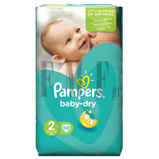 PAMPERS Baby Dry Mini No2 (3-6 kg) - 58 Τεμ.
