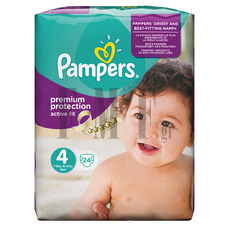PAMPERS Active Fit Maxi No4 (7-18 kg) - 24 Τεμ.