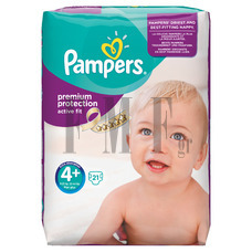 PAMPERS Active Fit Maxi Plus No4+ (9-20 kg) - 21 Τεμ.