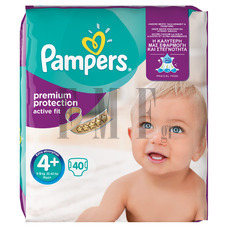 PAMPERS Active Fit Maxi Plus No4+ (9-20 kg) - 40 Τεμ.