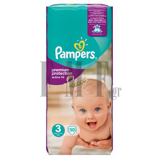 PAMPERS Active Fit Midi No3 (4-9 kg) - 50 Τεμ.