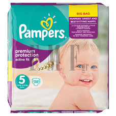 PAMPERS Active Fit Junior No5 (11-25 kg) - 38 Τεμ.