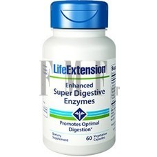 LIFE EXTENSION Enhanced Super Digestive Enzymes - 60 Caps.