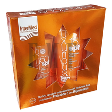 INTERMED Luxurious Πακέτο Χαμηλής Προστασίας Face Cream 50SPF & Sunscreen Cream 15SPF - 75ml. & 200ml.