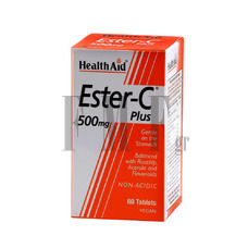 HEALTH AID Ester - C Plus 500mg - 60 Tabs.