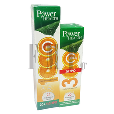 POWER HEALTH Vitamin C 1000mg - 20 Tabs + ΔΩΡΟ 4 Τabs. + EXTRA ΔΩΡΟ Vitamin C 300mg 20 Tabs.