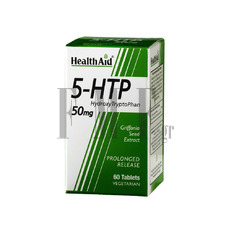 HEALTH AID Hydroxy TryptoPhan 5-HTP 50mg - 60 Tabs.