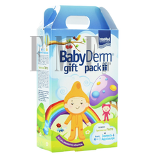 BABYDERM Gift Pack Shampoo & Body Bath - 300 ml + Protective Paste - 125 ml.