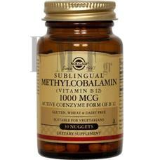 SOLGAR Methylcobalamin (Vitamin B-12) 1000mg - 30 Tabs.