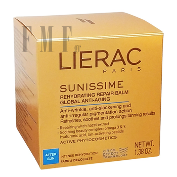 LIERAC Sunissime Baume Reparateur Rehydratant Anti-age Global - 40 ml.