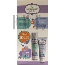 TOL VELVET Baby Care Mild Bath 300 ml & Extra Calm Cream 150 ml.