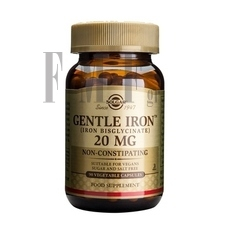 SOLGAR Gentle Iron 20mg - 90 Caps.