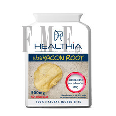 HEALTHIA Yacon Root 500 mg - 60 Caps