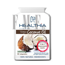 HEALTHIA Coconut Oil 1000mg - 60 Caps