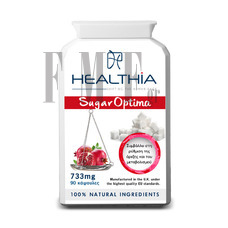 HEALTHIA Sugar Optima 733mg - 90 Caps.