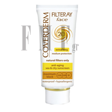 COVERDERM Filteray Face SPF20 Light Beige -  50ml.
