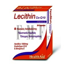 HEALTH AID Lecithin with Co-Q10 & Vitamin E - 30 Caps.