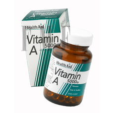 HEALTH AID Vitamin A 5000 IU - 100 Caps.