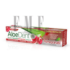 OPTIMA AloeDent Triple Action Pomegranate Toothpaste - 100 ml.