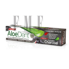 OPTIMA AloeDent Triple Action Charcoal Toothpaste - 100 ml.