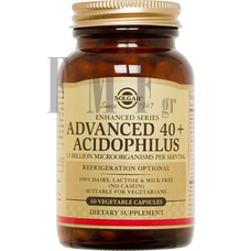SOLGAR Advanced 40+ Acidophilus - 60 Caps.