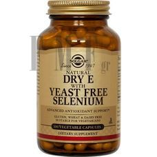 SOLGAR Vitamin E with Yeast Free Selenium - 100 Caps.