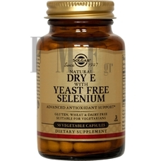 SOLGAR Vitamin E with Yeast Free Selenium - 50 Caps.