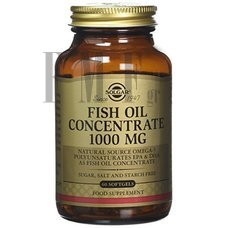 SOLGAR Fish Oil Concentrate 1000mg - 60 Caps.